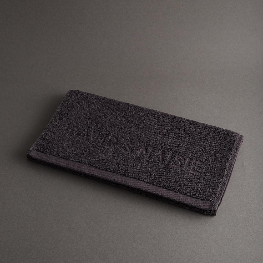DAVID & MAISIE|100%純棉柔軟浴巾 藏墨灰