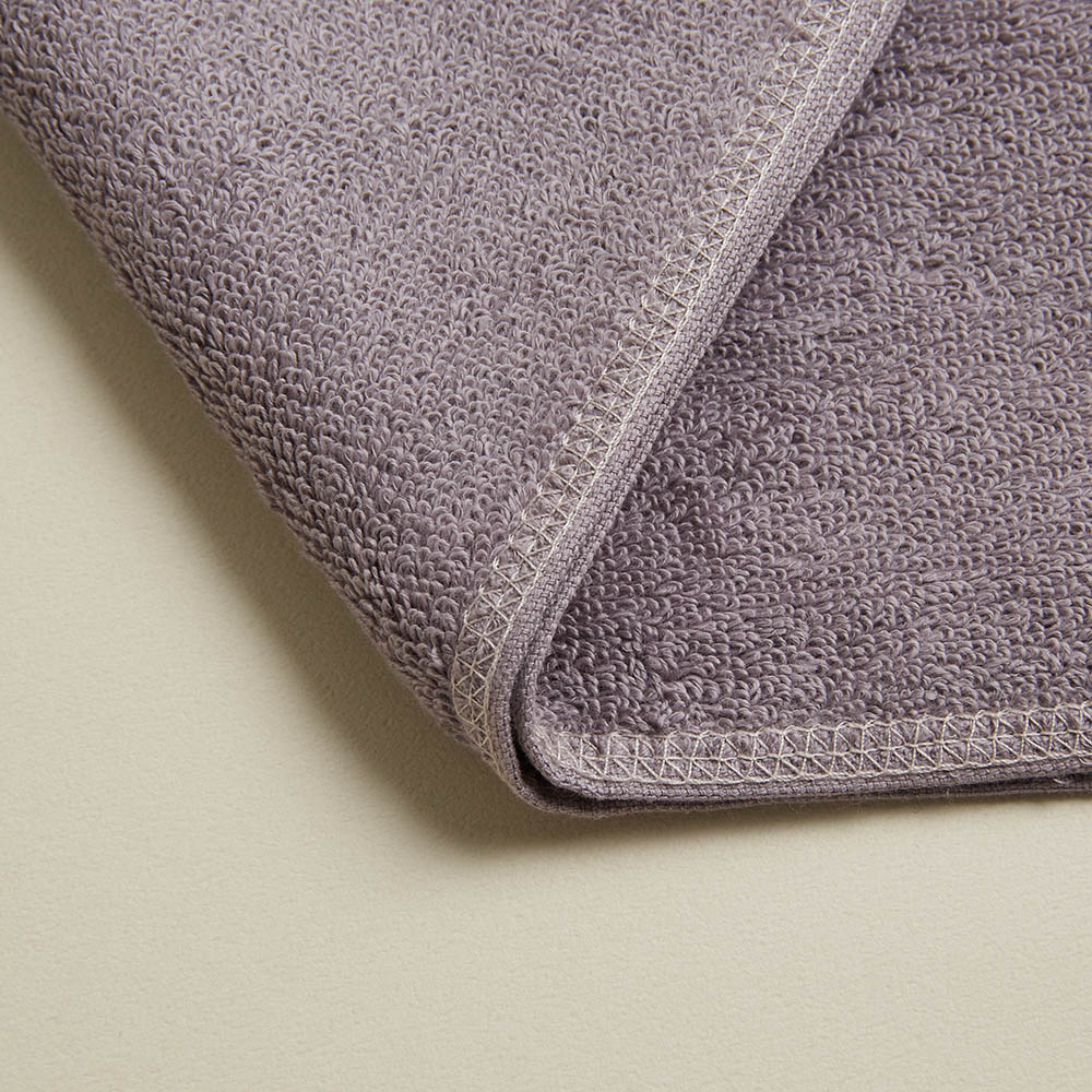 DAVID & MAISIE|純棉無撚紗絲柔洗臉毛巾 靜謐紫