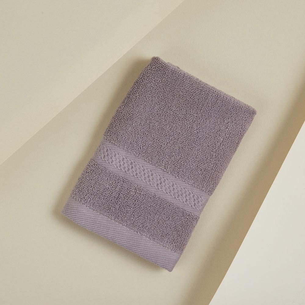 DAVID & MAISIE|純棉無撚紗絲柔洗臉方巾 靜謐紫