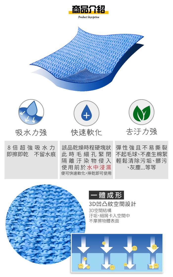 (複製)佶之屋|藍博士 3D 魔法布 43x32cm-1入
