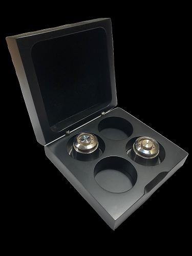 Capsulier | 限量膠囊收藏展示木盒+ Capsi 304不鏽鋼咖啡膠囊 (2顆)