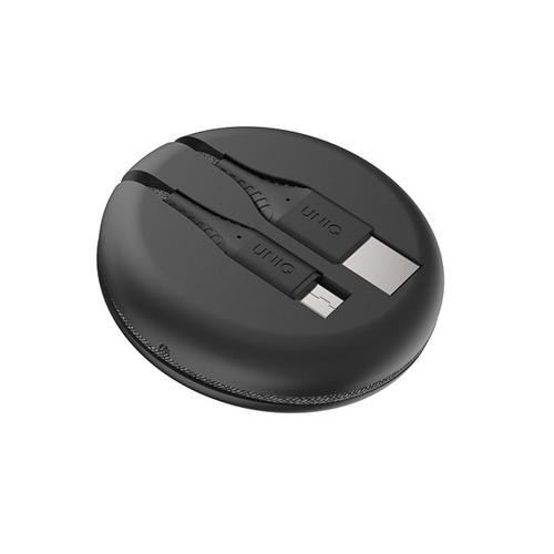 UNIQ|Halo USB Type-C 高密度尼龍編織快充傳輸線(附捲線收納盒)
