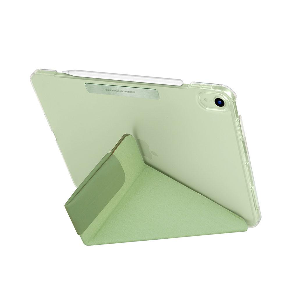 UNIQ|Camden 抗菌磁吸設計帶支架多功能極簡透明保護套 iPad Air 10.9吋