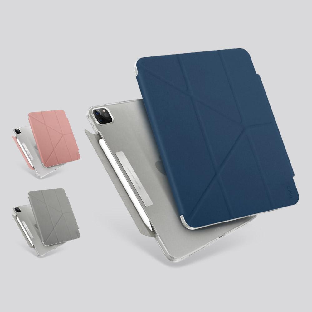 UNIQ|Camden 抗菌磁吸設計帶支架多功能極簡透明保護套 iPad Pro 11吋 (2021)