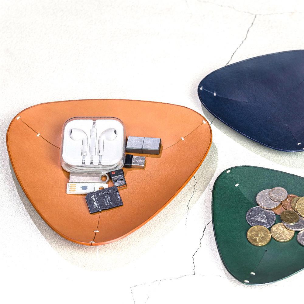 偶物 OU object|手工植鞣萬用雜物收納盤 (大)