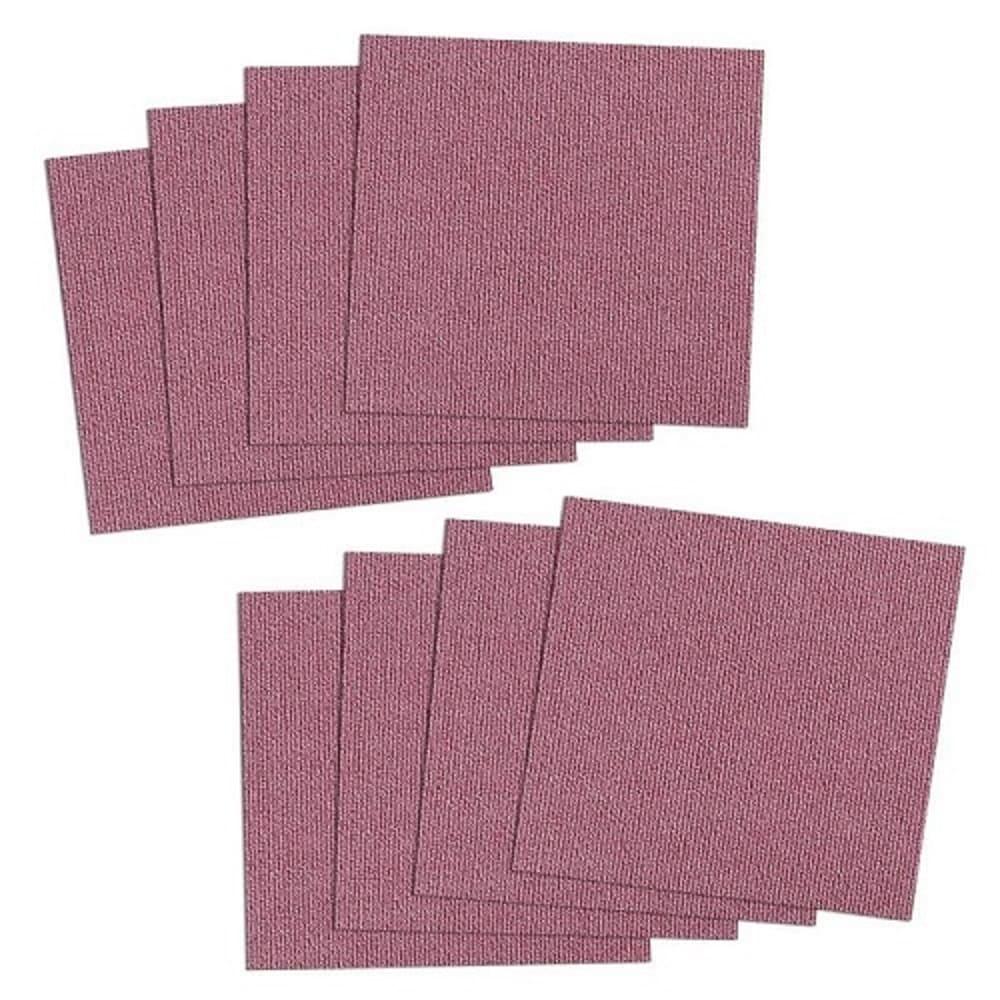 SANKO|防潑水止滑巧拼地墊 1組8片裝(桃紅色)