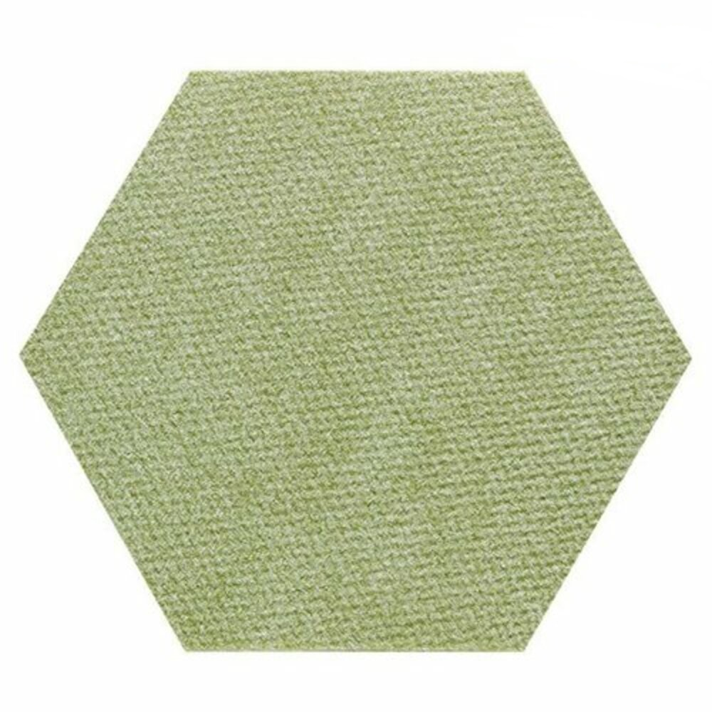 SANKO|貓咪用 六角形防潑水止滑巧拼地墊 1組7片裝(綠色)