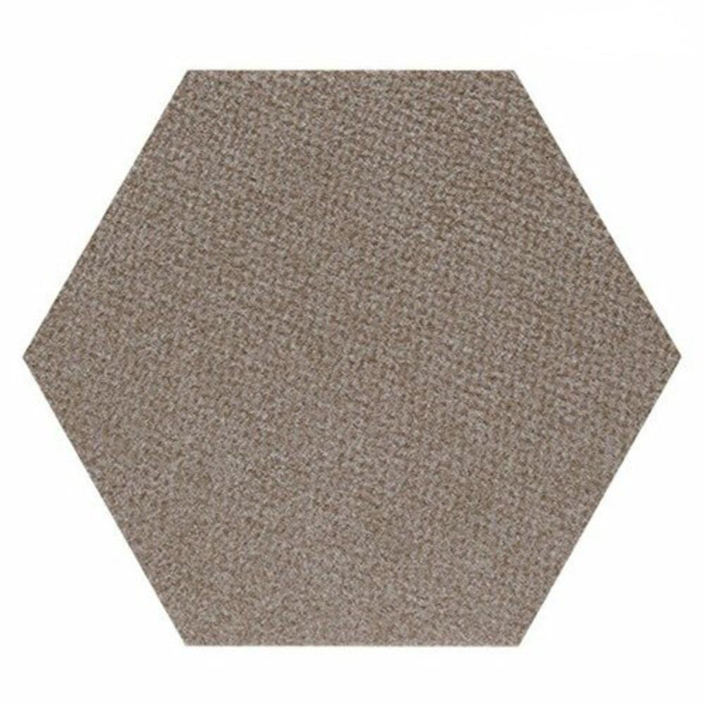 SANKO|貓咪用 六角形防潑水止滑巧拼地墊 1組7片裝(棕色)