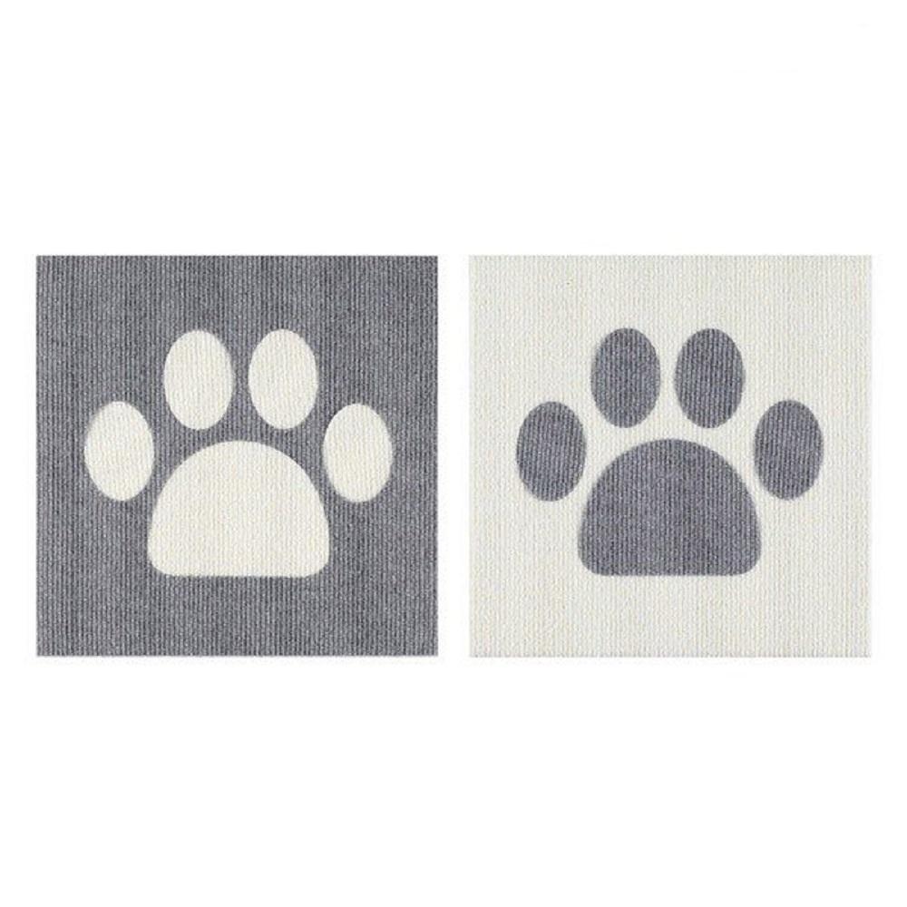 SANKO|防潑水止滑巧拼地墊 寵物肉球造型 1組2片裝(淺灰色/象牙白)