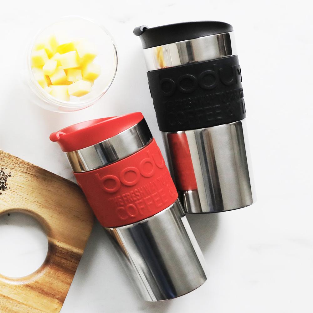 Bodum 不鏽鋼真空隨行杯-紅(0.35L)