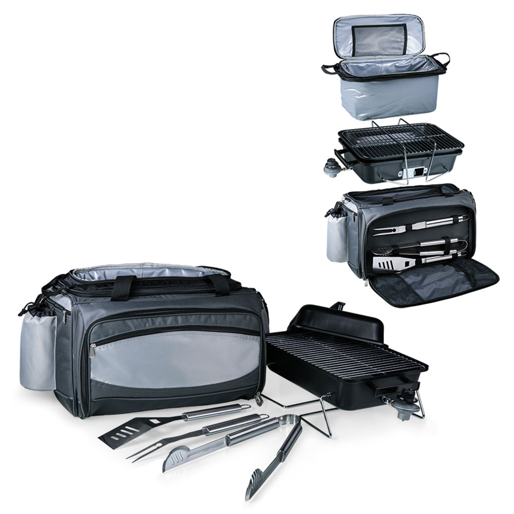 美國Picnic Time 攜帶式燒烤套件防水保冷袋-附燒烤爐及器具