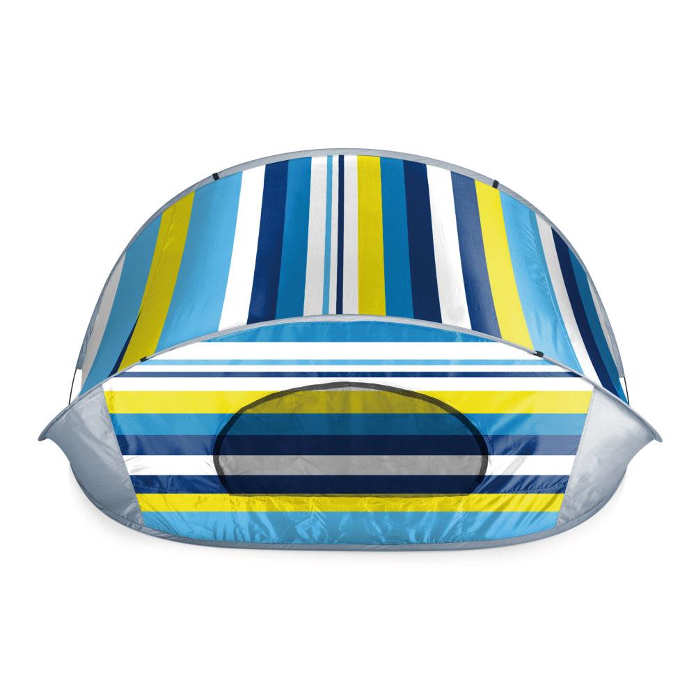 美國Picnic Time|MANTA 抗UV秒開遮陽帳篷(藍綠條紋)-UPF50+