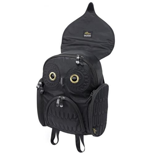 Morn Creations|原廠正版經典貓頭鷹後背包 OW-302 黑色 (M)