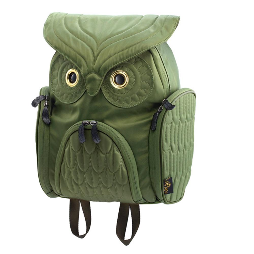 Morn Creations|正版明星示範貓頭鷹背包 OW-302-GN 綠色 (M)
