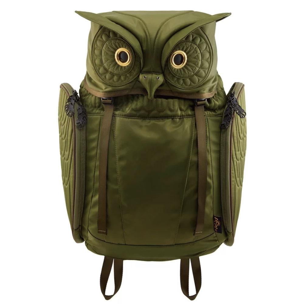 Morn Creations|正版大角貓頭鷹後背包 OW-101-GN 綠色 (XL)