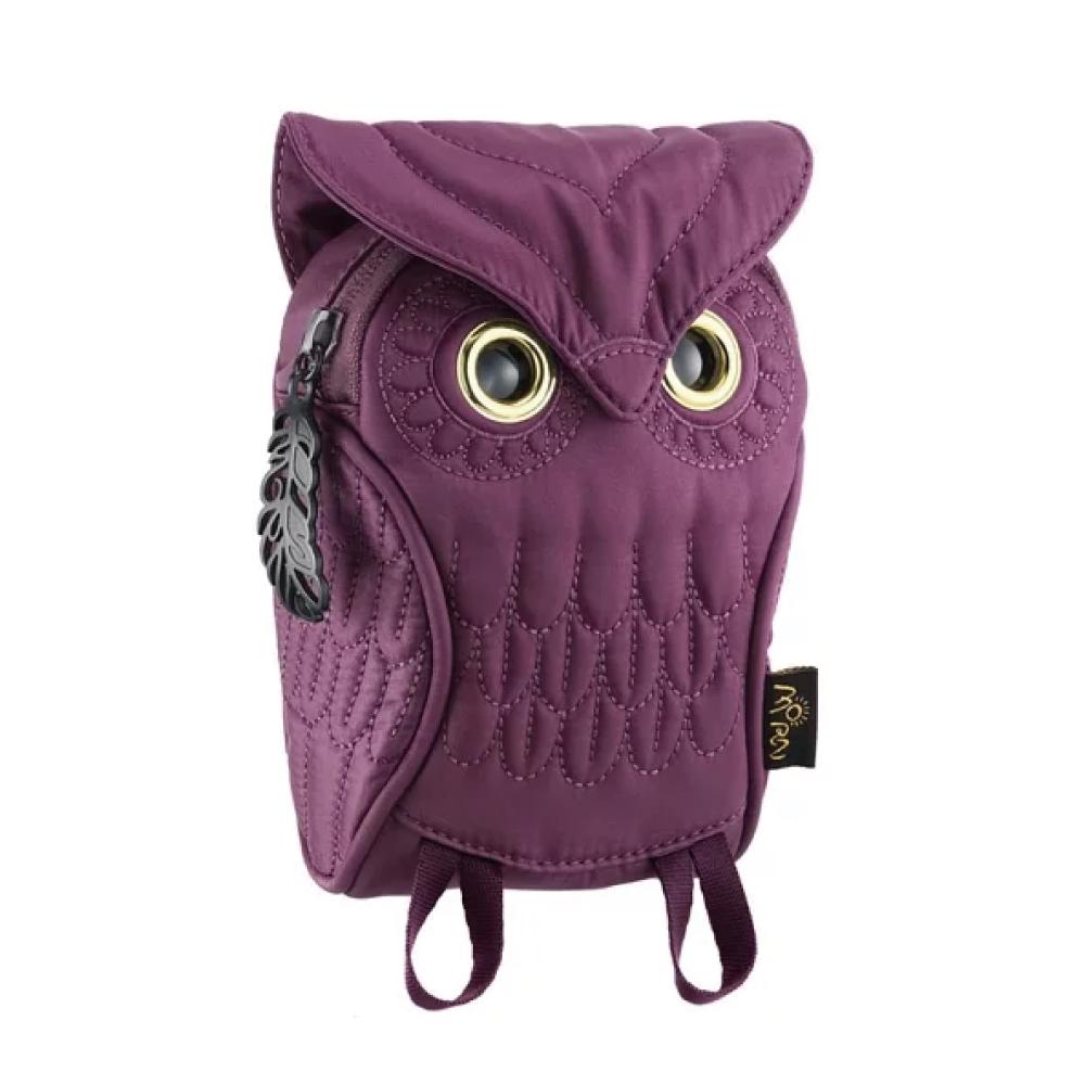 Morn Creations|正版貓頭鷹手機包 OW-105-PP 紫色 (S)