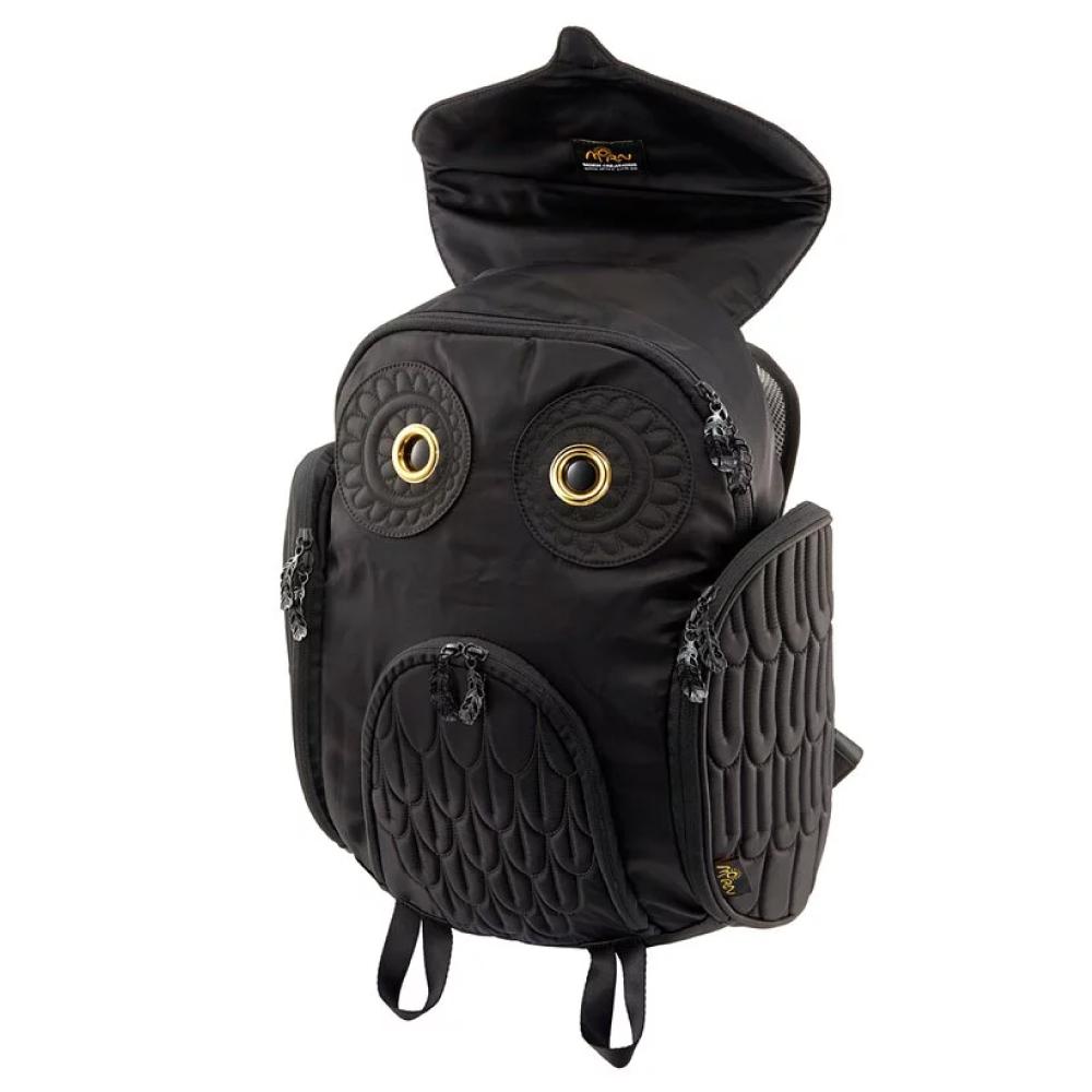 Morn Creations|原廠正版經典貓頭鷹後背包 OW-301 黑色 (L)
