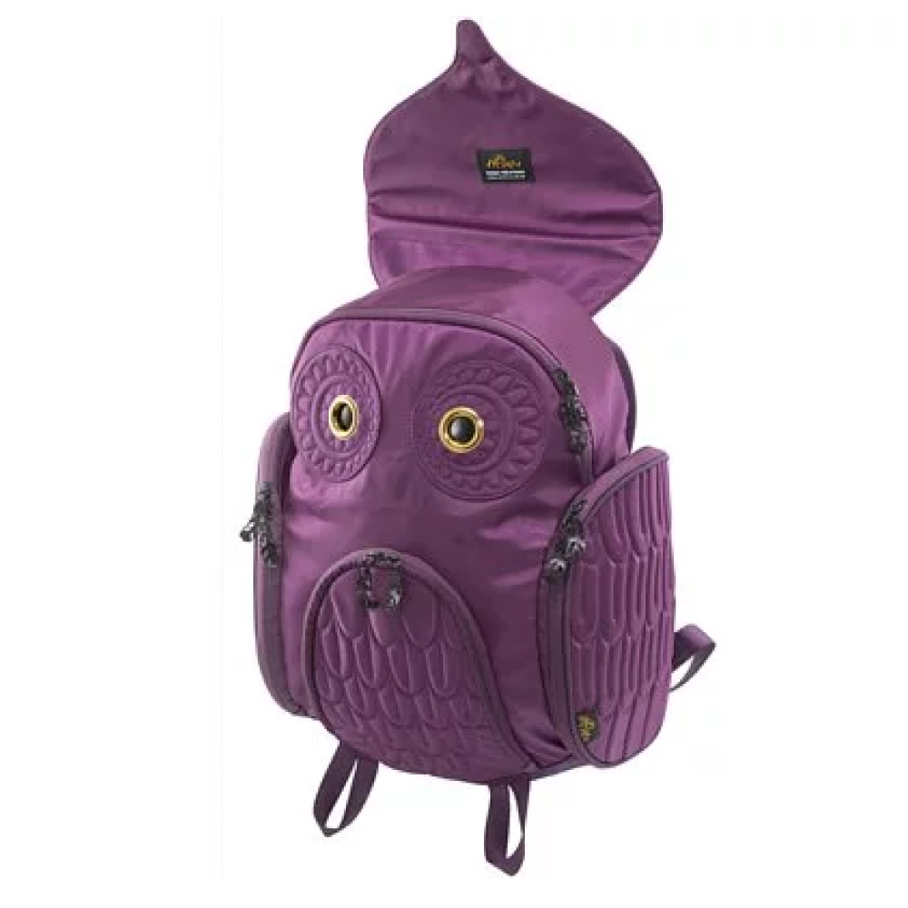 Morn Creations|原廠正版經典貓頭鷹後背包 OW-301-PP 紫色 (L)