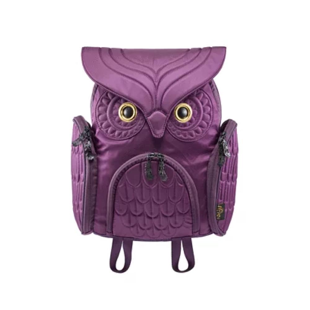 Morn Creations|原廠正版經典貓頭鷹後背包 OW-302-PP 紫色 (M)