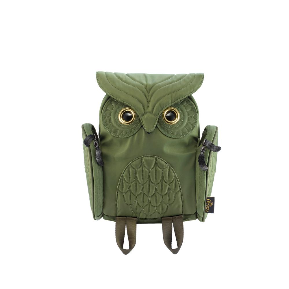 Morn Creations|正版貓頭鷹尼龍後背包 OW-303-GN 小朋友款 綠色 (減壓背帶設計)