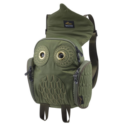 Morn Creations|正版時尚金線貓頭鷹後背包 OW-386-GN 綠色 (S)