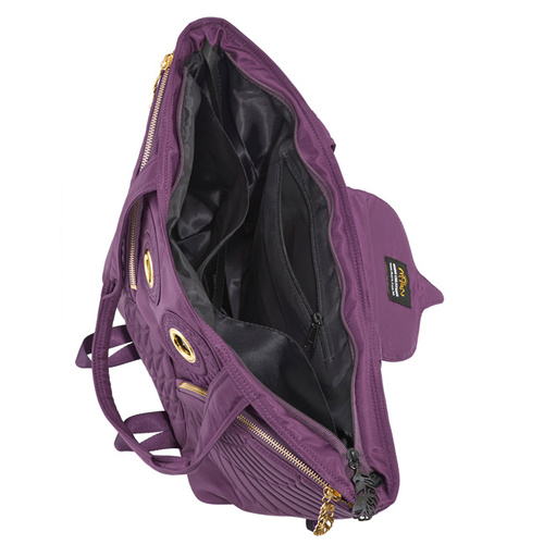 Morn Creations|正版貓頭鷹托特包 OW-401-PP (可當媽媽包) 紫色