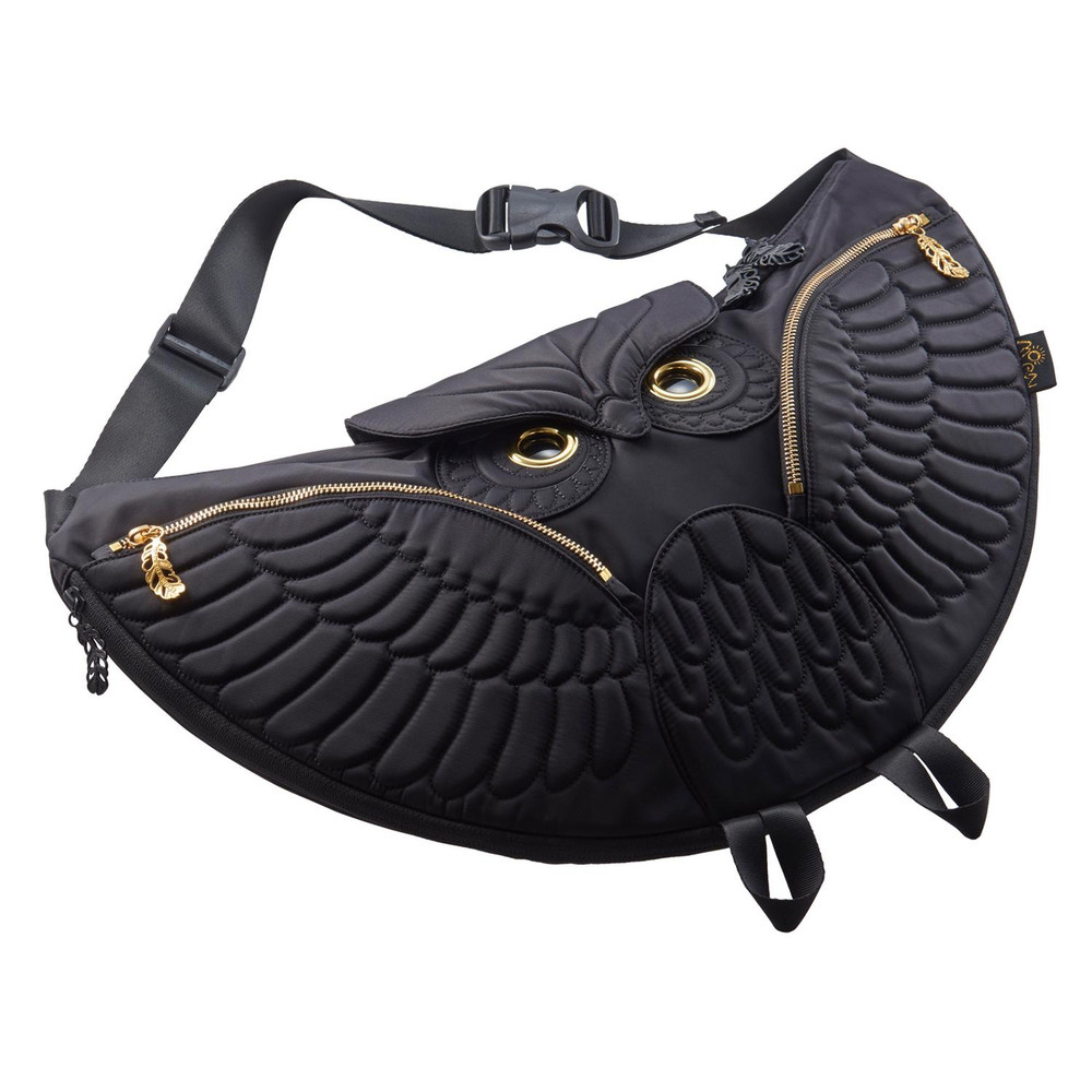 Morn Creations|正版貓頭鷹半月型斜背包 OW-501 黑
