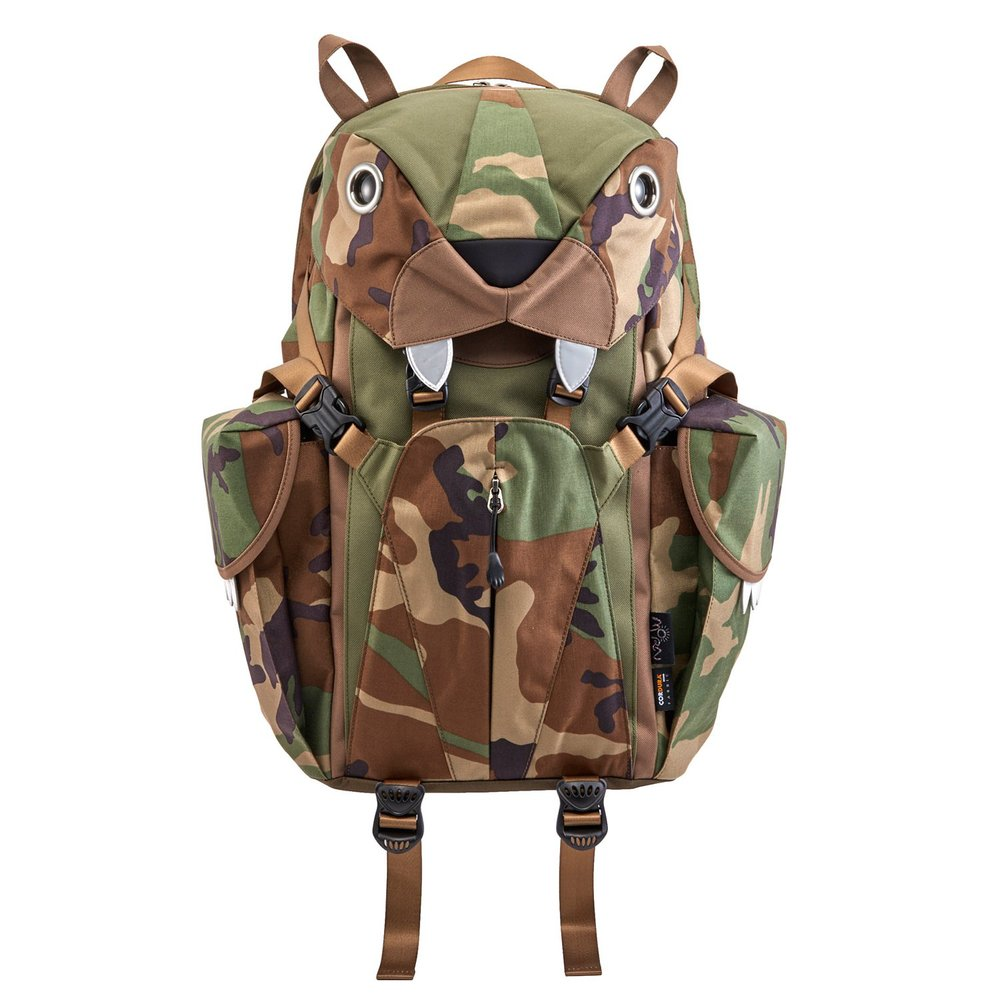 Morn Creations|正版可愛動物造型老虎電腦背包 BC-320-CA 迷彩