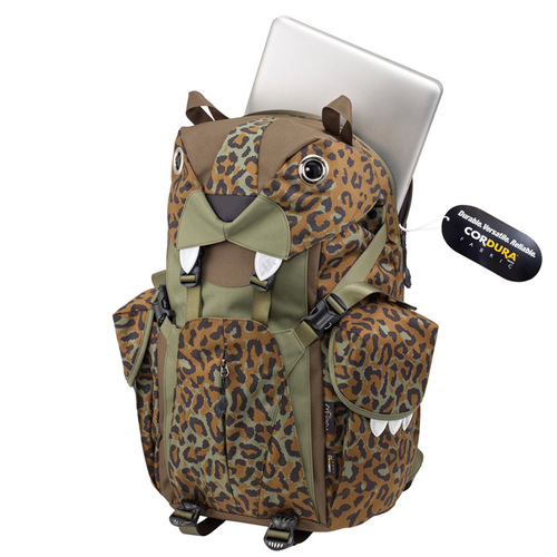 Morn Creations|正版可愛動物造型老虎電腦背包 BC-320-LC 豹紋