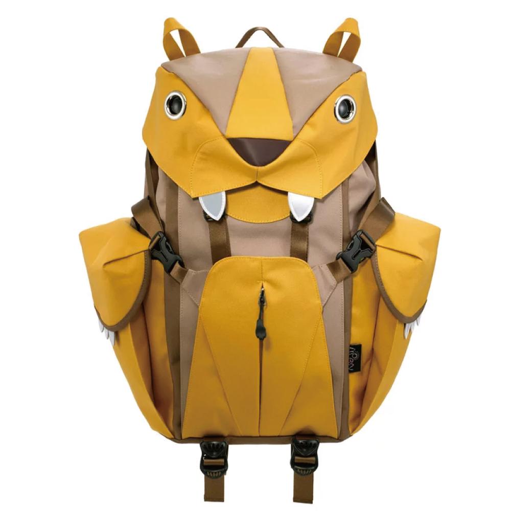 Morn Creations 正版可愛老虎後背包 BC-201-MU 黃色 (L)