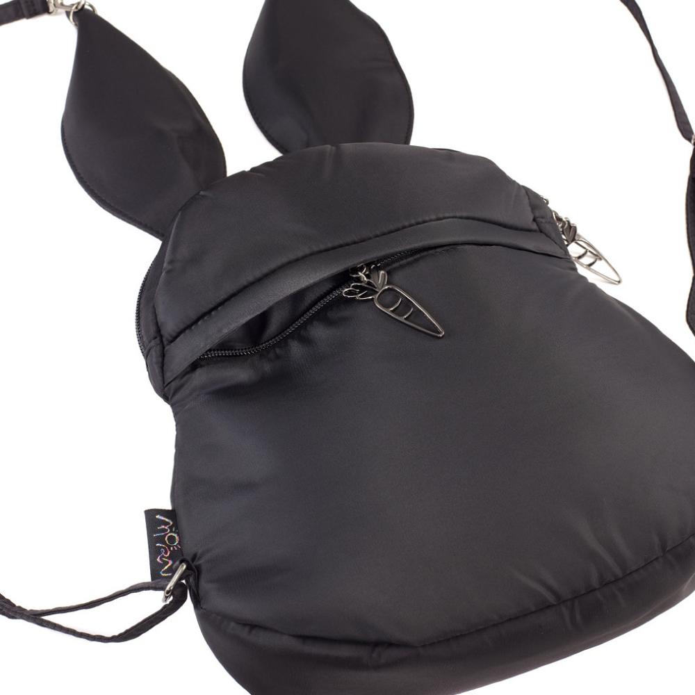 Morn Creations 正版可愛兔子後背包 RA-707-BK 黑色 (M)