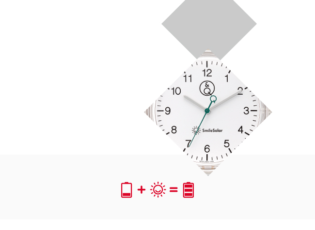 Q&Q SmileSolar 喀什米爾系列太陽能手錶-優雅米Large/40mm