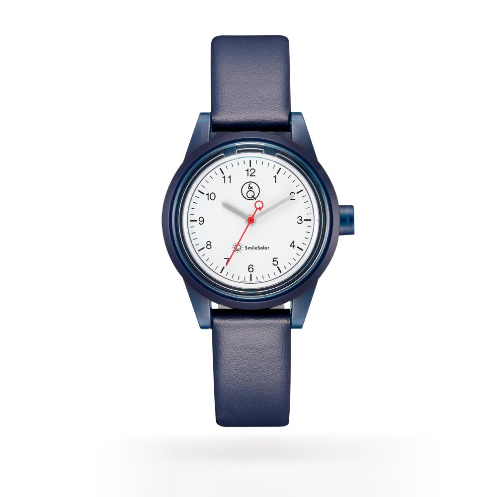 Q&Q SmileSolar|喀什米爾系列太陽能手錶 海軍藍Small 30mm