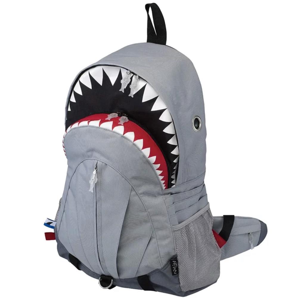 Morn Creations|正版鯊魚背包 SK-109-GY (XL) 灰