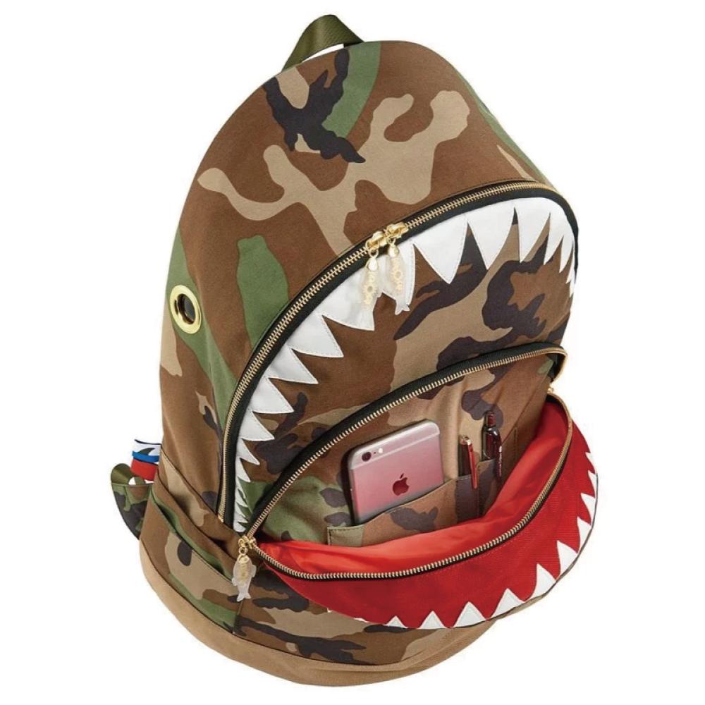 Morn Creations|正版鯊魚後背包 SK-401-CA (L) 迷彩