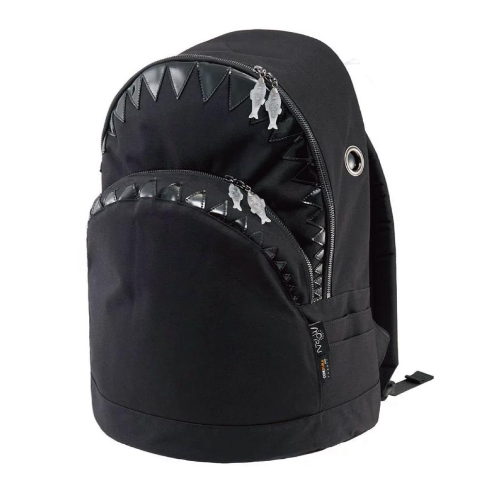 Morn Creations 正版鯊魚後背包 SK-401-BK L 黑