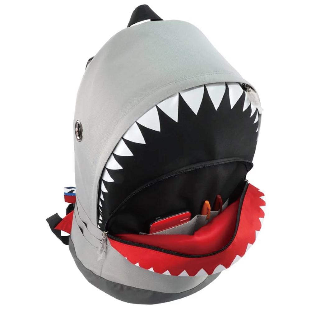 Morn Creations|正版鯊魚後背包 SK-128-GY L 灰