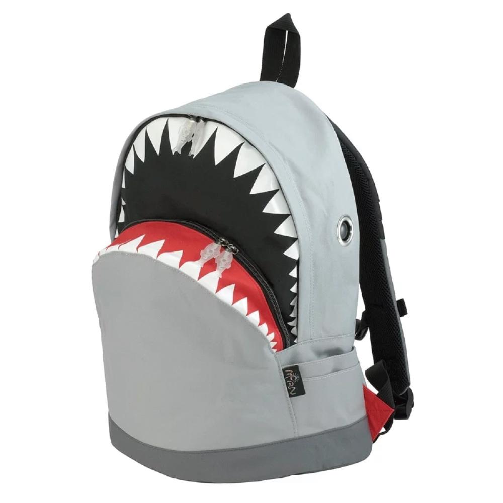 Morn Creations|正版鯊魚背包 SK-101-GY (L) 灰