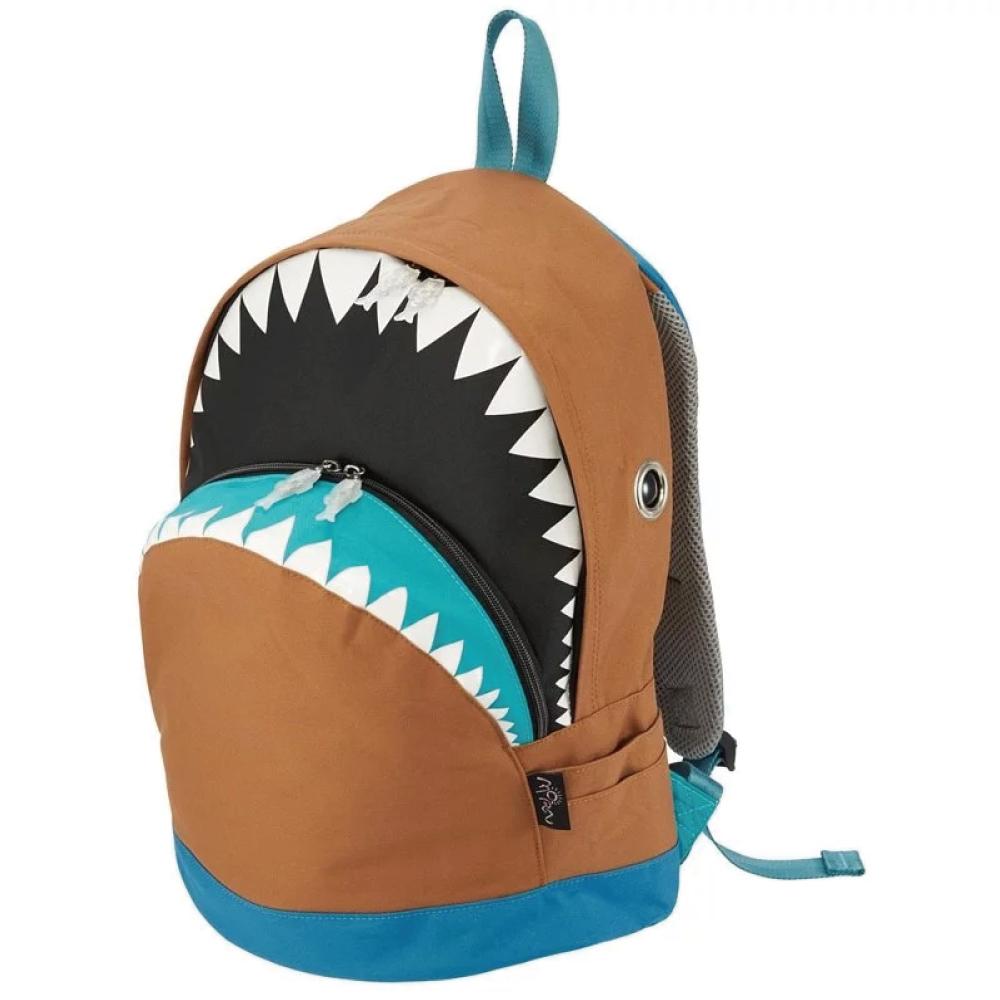 Morn Creations|正版鯊魚背包 SK-201-BR (L) 咖啡