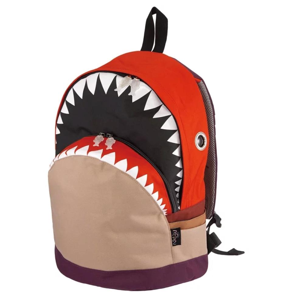 Morn Creations 正版鯊魚大背包 SK-301-RD 紅卡其 (L)