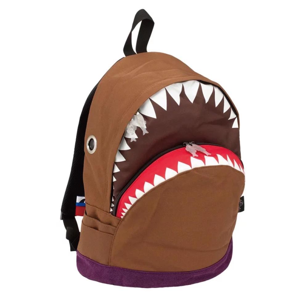 Morn Creations 正版鯊魚大背包SK-112-BR 咖啡 (L)