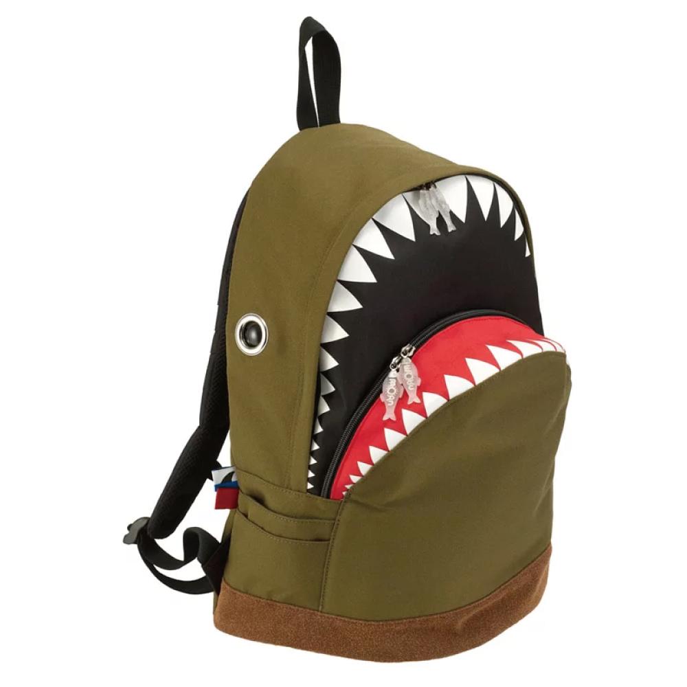 Morn Creations|正版鯊魚大背包 SK-112-GN 綠 (L)