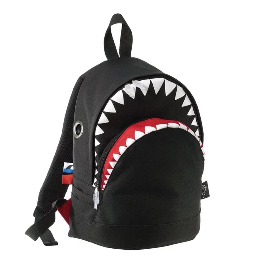 Morn Creations|正版鯊魚背包 SK-102-BK (M) 黑