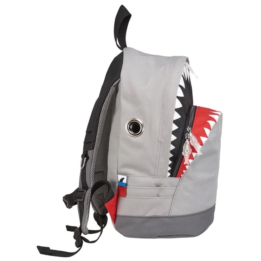 Morn Creations|正版鯊魚背包 SK-102-GY (M) 灰