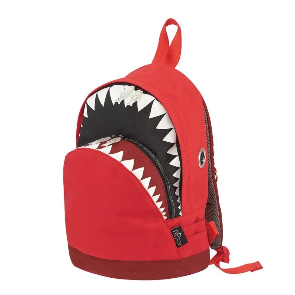 Morn Creations|正版鯊魚背包 SK-202 (M) 紅/深紅