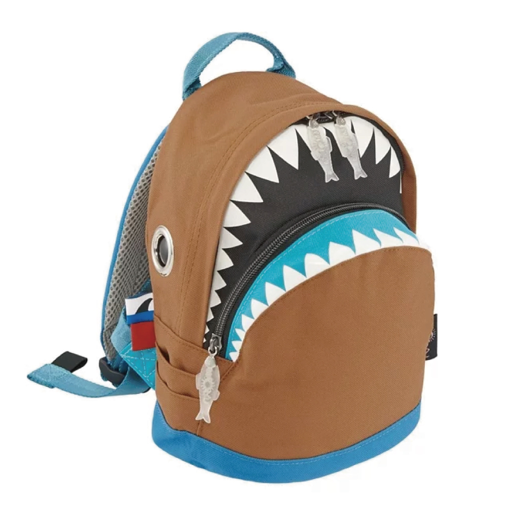 Morn Creations|正版鯊魚背包 SK-204-BR (S) 咖啡