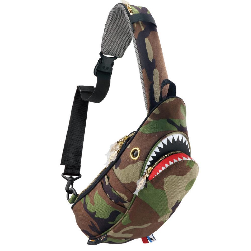 Morn Creations|正版鯊魚單肩包 SK-429-CA 迷彩