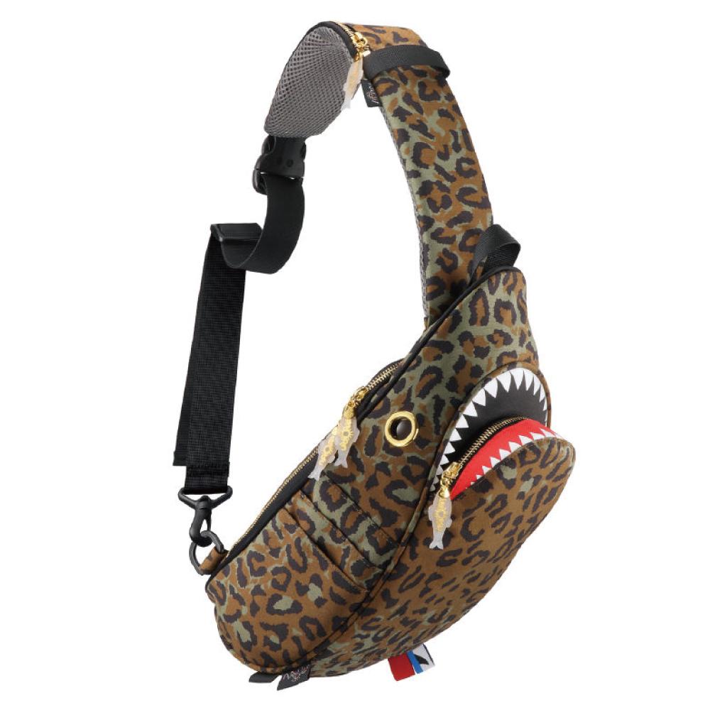 Morn Creations|正版鯊魚單肩包 SK-429-LC 豹紋