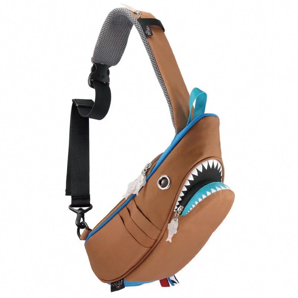 Morn Creations 正版鯊魚單肩包 SK-229-BR 咖啡