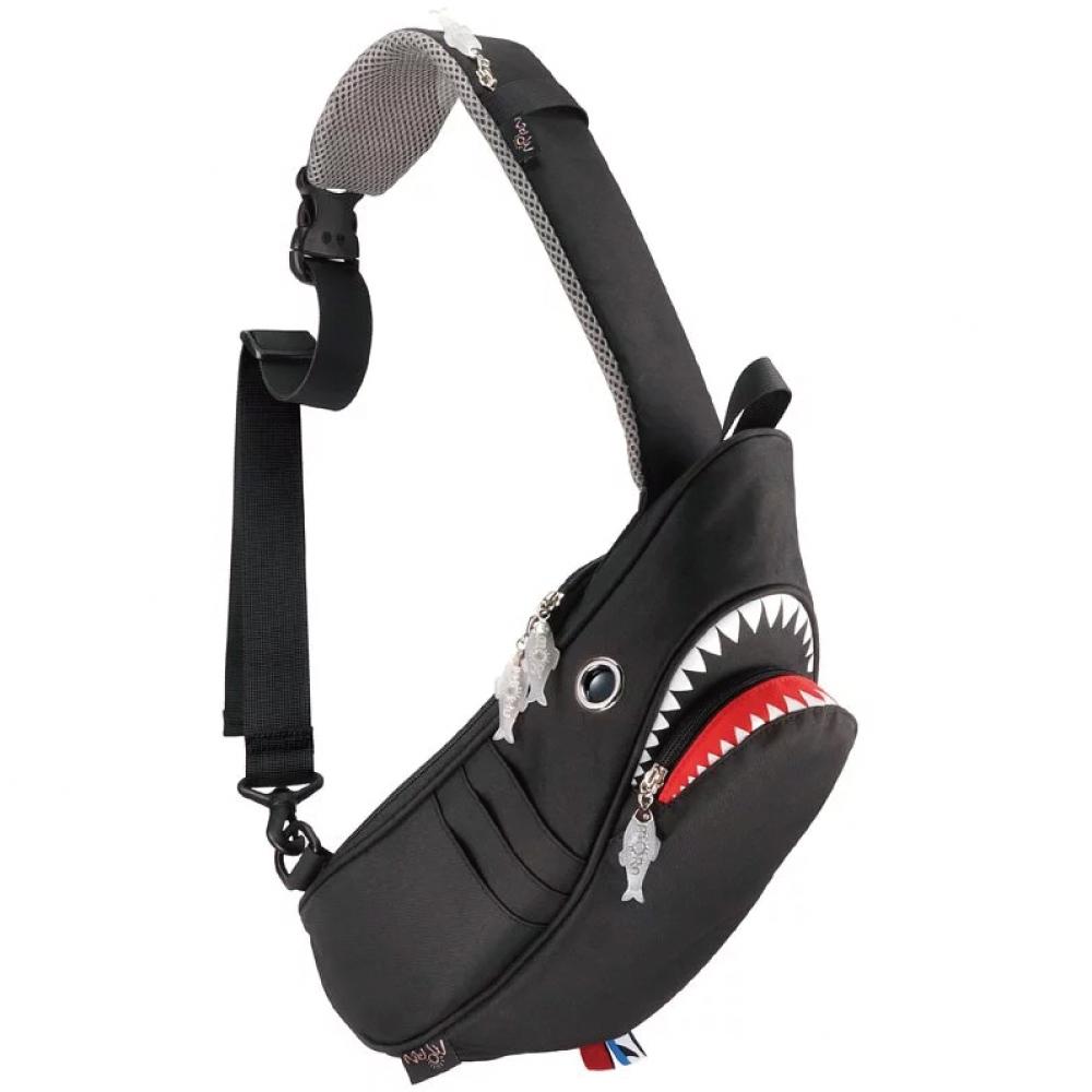 Morn Creations 正版鯊魚單肩包 SK-129 黑
